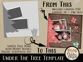 Under the Tree Layered Digital Scrapbook Template