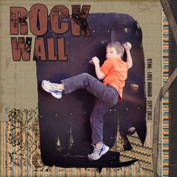 Rock Wall Digital Scrapbook Layout by Clikchic Designs