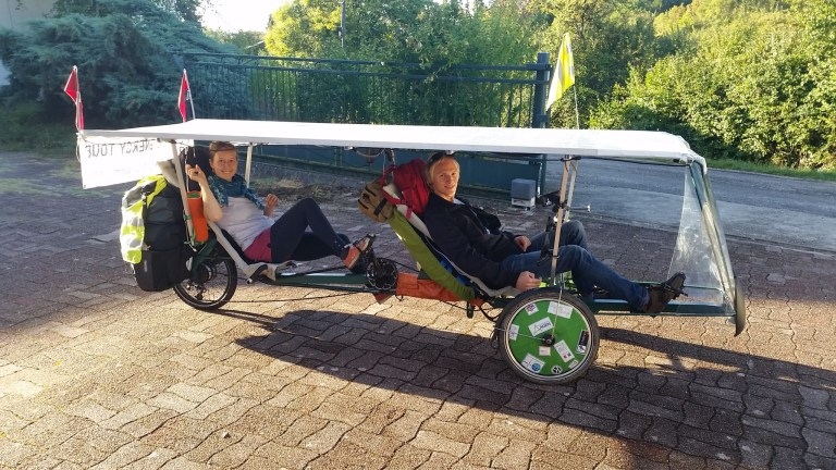 tandem trike solaire