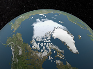 Both the extent and thickness of Arctic sea ice has declined rapidly over the last several decades