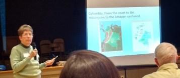 Joni Grady giving background on Columbia.