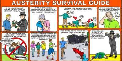 Austerity Survival Guide comic strip