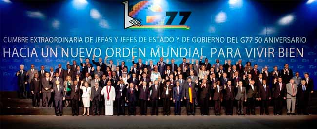 Summit of Heads of State and Government of the Group of 77 For a New World Order for Living Well Santa Cruz de la Sierra, Plurinational State of Bolivia, 14 and 15 June 2014