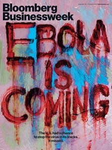 Ebola panic-mongering. Note that 'is coming' means 'is coming to our shores'