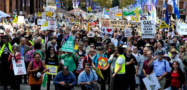 Australia CSG Protest