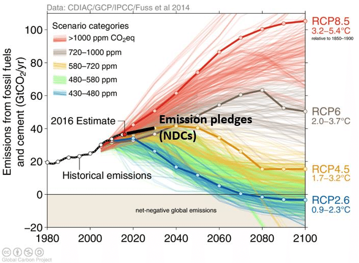 Fig. 6: Representative Concentration Pathways (RCPs) (Image: Global Carbon Project)