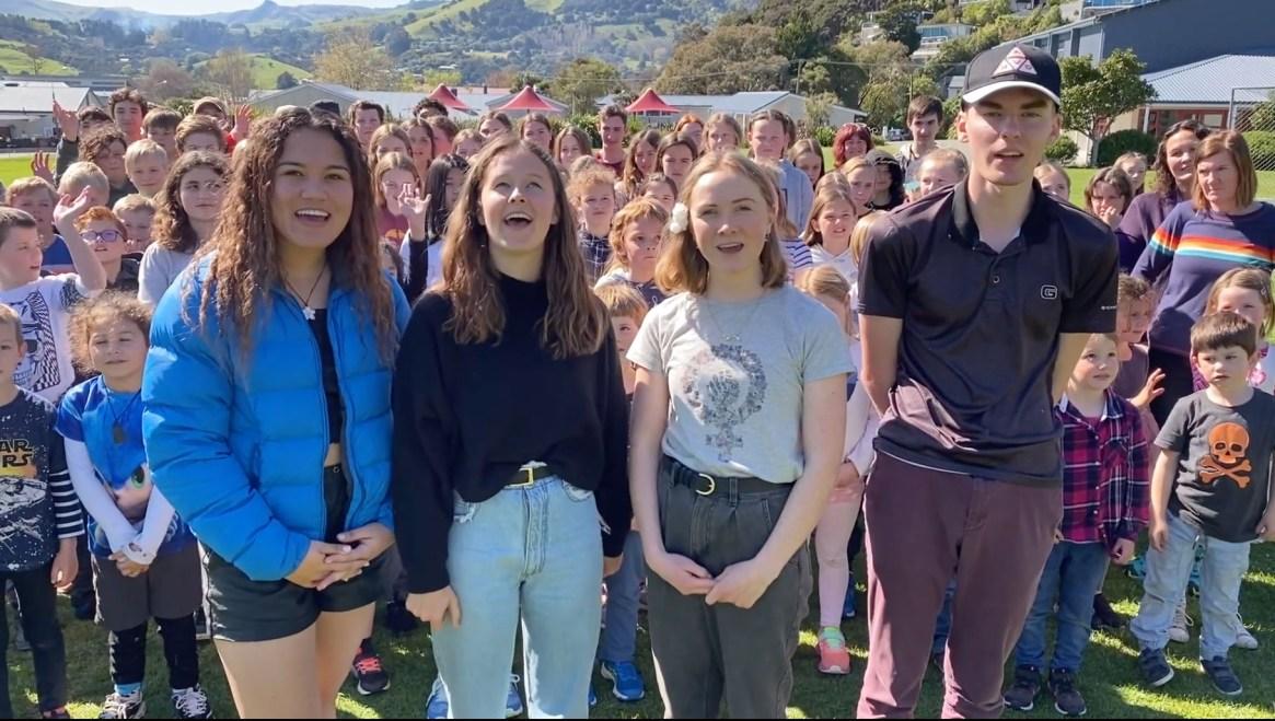 Fig. 1: Akaroa Area School students are now kaitiaki of Te Umu Te Rahua (Image: Akaroa Area School)