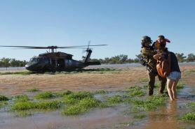 Australian Army Rescues Flooded Family