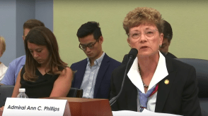 Rear Admiral Ann Phillips before the House Budget Committee_2019_7_26