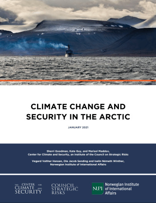 Climate Change and Security and the Arctic_Cover Image_2021