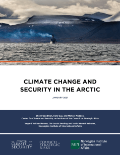 This image has an empty alt attribute; its file name is Climate-Change-and-Security-and-the-Arctic_Cover-Image_2021-e1610049934390-790x1024.png