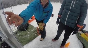 Inspecting Ice Coring Equipment.