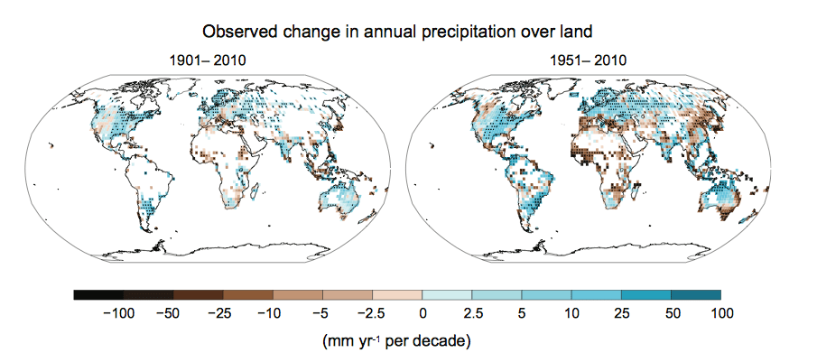 change in precipitation Although recent research has characterized the non-stationarity of extreme  precipitation2,3,4,5,6,7 and its intensification and the change in the.