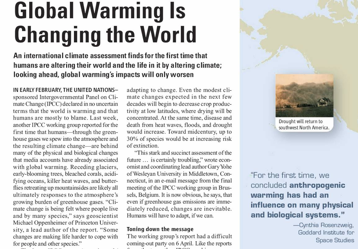 Global Warming Is Changing The World Kerr