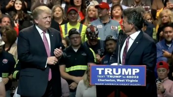 Donald Trump getting endorsed by the W. Virginia Coal Association.