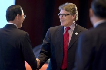 Rick Perry at the international clean energy conference in Beijing.