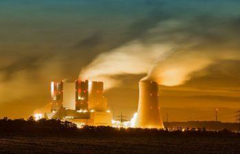 power plant night