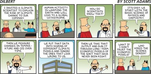 dilbert cartoon climate models