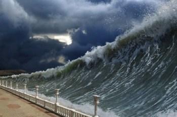 sea level wave coast flood