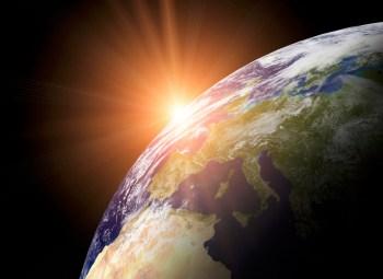 earth sun horizon