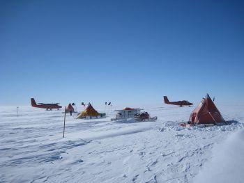 field camp on pine island glacier