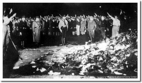 burning books nazis