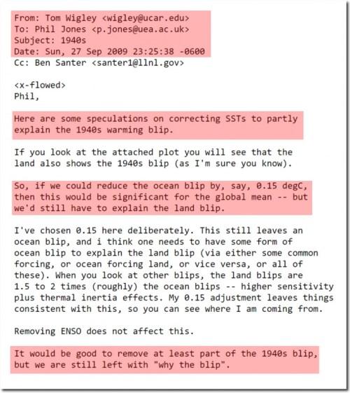 phil jones email hide the blip