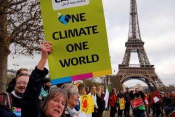 paris accord protest