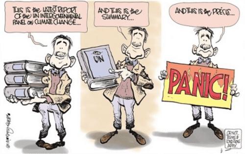 cartoon ipcc warming panic