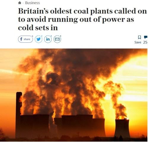 britain coal plants telegraph
