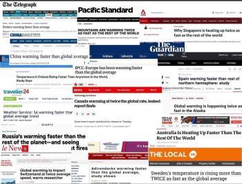 global warming alarmist headlines