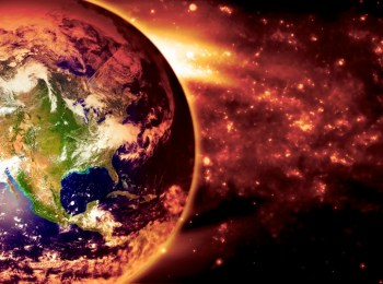 earth burning fire