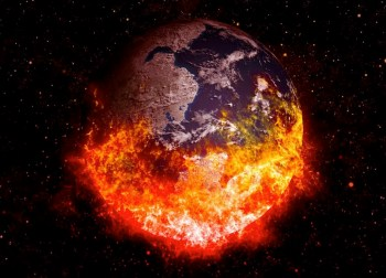 earth burning up