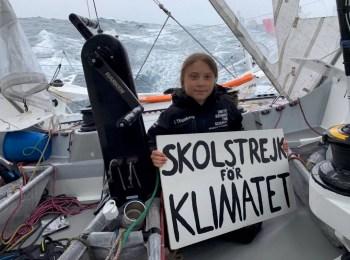 Greta Thunberg on boat trip