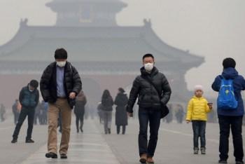 china air pollution visible