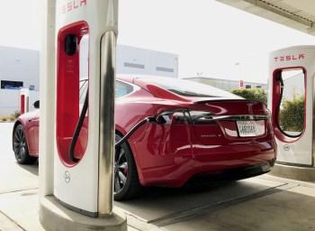 tesla california charging station