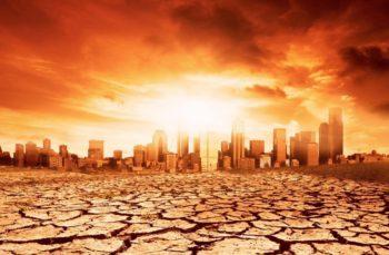 city sun hot baked earth