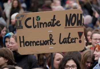 climate protest homework later
