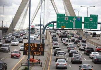 boston traffic cars