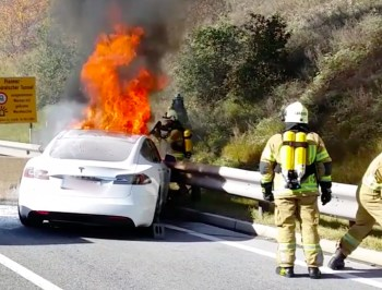 electric car battery fire