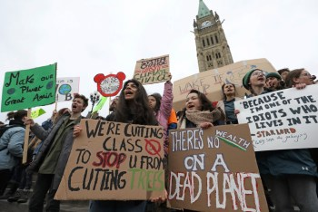 young people climate protest