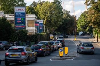 gasoline station britain