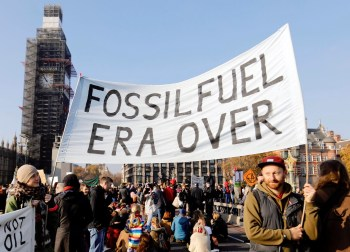 protest fossil fuel over