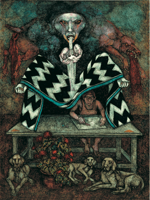 O Fountain Mouth, 1989, by Meinrad Craighead
