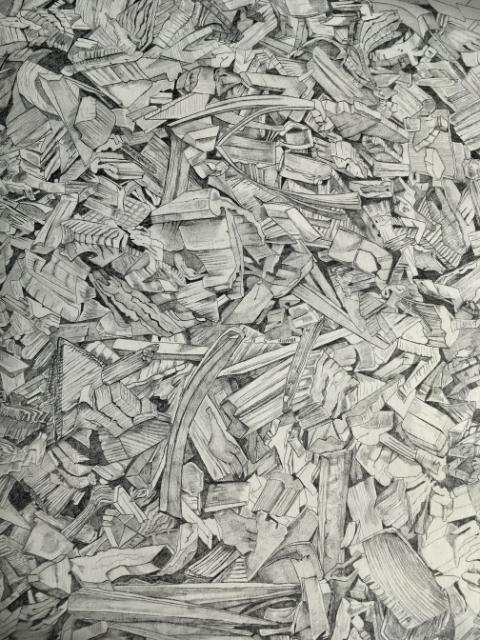 'The Wood-Pile'. Artist: Jessica Rayner
