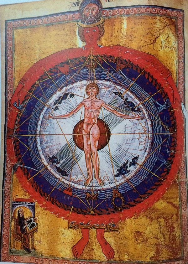 Anthropocene objects: The Cosmic Man - published in 'Liber Divinorum Operum', by Hildegard of Bingen (12th century)
