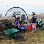 Eco-social art - Berneray Community Polycrub, 2016
