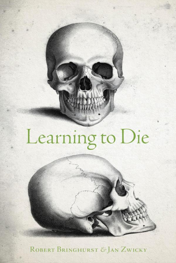 Learning to Die. Book cover by William Miller (human skull, engraving, 1818