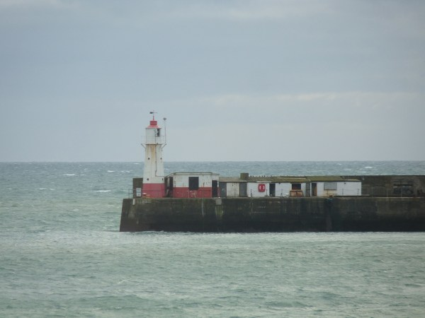 Newlyn Tidal Observatory, next to the lighthouse