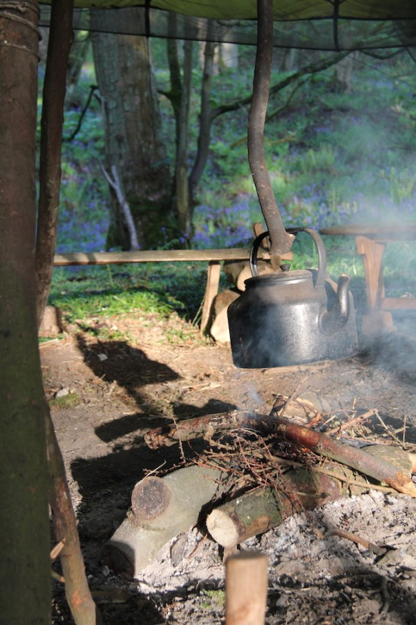 Bushcraft - the embers of the campfire
